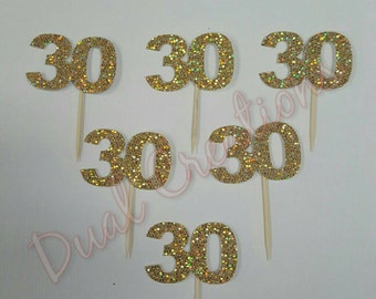 30 birthday cupcake toppers