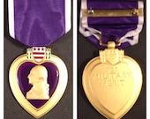 Gulf war era purple heart full size medal