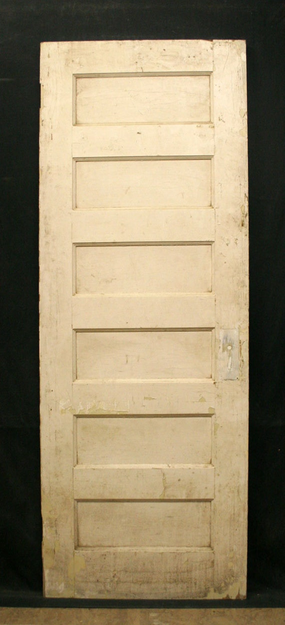 28 x78 antique arts crafts interior solid wood wooden door 6 recessed flat panel from 6 panel hardwood interior doors