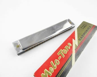 A 'Melo-Tone' Harmonica in Original Box - #800 21 Hole Harmonica - Made in Japan - New Music -