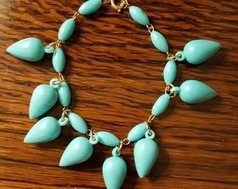 1960s Teardrop Bracelet Turquoise (023)