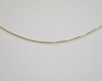 Solid 14k Gold Cable Chain,