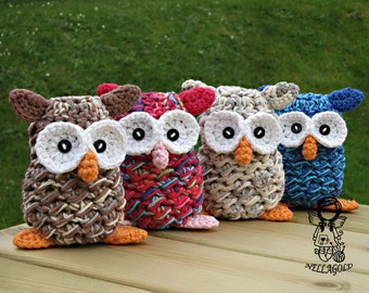 Crochet PATTERN, Eared Owl, Crochet Owl Pattern, Crochet Toy, Amigurumi crochet pattern, Home Decor, DIY Pattern 162