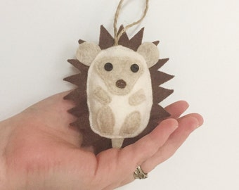 Hedgehog Felt Christmas Tree Ornament