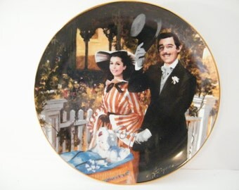 GWTW Vintage Plate,  Strolling In Atlanta Plate Scarlett, Rhett, Bonnie Blue,  Baby,  Gone With The Wind Collectible numbered plate
