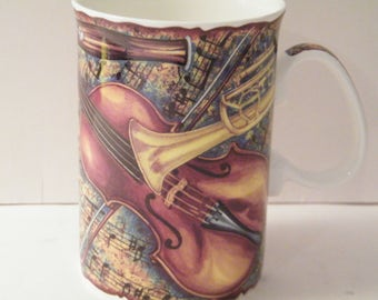 Musician Mug, Vintage 8 ounce mug for musician, music teacher, or music lover, made in England Lakeside collection,