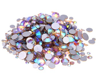 AB Light Topaz --  Crystal Glass Rhinestones Flatback High Quality no hotfix  Wholesale Pack Lot -- SS4-SS30 Choose your size