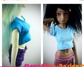 Sale 20% Off BJD MSD 1/4 Doll Clothing - Design Your Own Crop Top Tee - 20 Colors