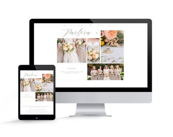 Showit 5 Template - Showit Website Template for Photographers - Instant Download - Pavlova Showit Website Template