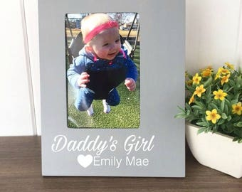 New Dad Picture Frame, Daddy's Girl Frame, Father Daughter Picture Frame, Father's Day Gift, Daddy Daughter, Husband Birthday Gift, New Dad