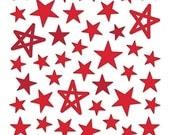 Bella Blvd - Red Puffy Star Stickers - 50 pieces - PFST1671