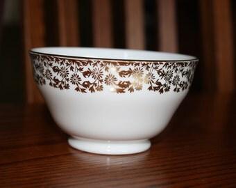 Adderley Fine Bone China- Gold Filigree Daisy Pattern Bowl