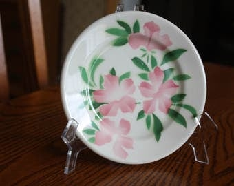 4 Syracuse China USA Plates- Rare Pattern with Pink Flowers 1950's Restaurant Ware
