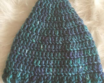 Baby Crochet Hat, Baby Pixie Elf Hat, Baby Shower Gift, Ready to Ship,  Knit Infant Cap, Newborn Photo Prop, Hershey Kiss Hat,Baby Boy Hat