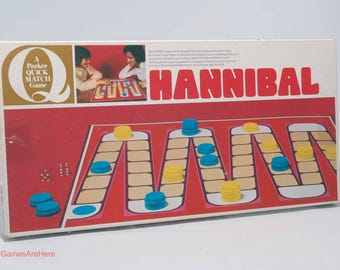 Hannibal Strategy Board Game from Parker Brothers 1974 COMPLETE (read description)