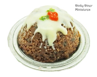 Christmas Pudding - Miniature 1:12 Scale Food