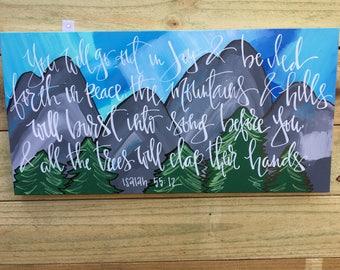 Isaiah 55:12 Canvas