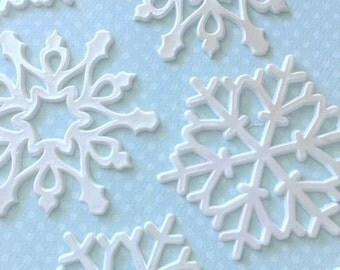 White Edible Sugar Snowflakes
