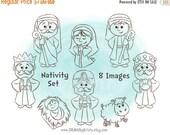 Nativity Set, Digital Image, Digital Stamp, Christmas, Religious Nativity Set, Joseph, Mary, Shepherd, Three wise Men, Baby Jesus, Sheep