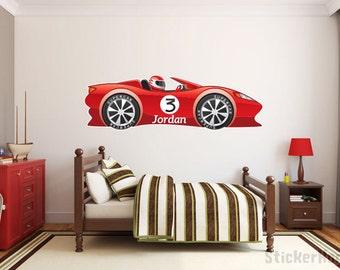 Race Car Decal Etsy - Custom vinyl decals for car interior