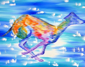 "whippet, whippets, whippet gift, for, dog lover, whippet painting, dog painting, dog paintings, greyhound, greyhounds, painting,art,36""x24"""