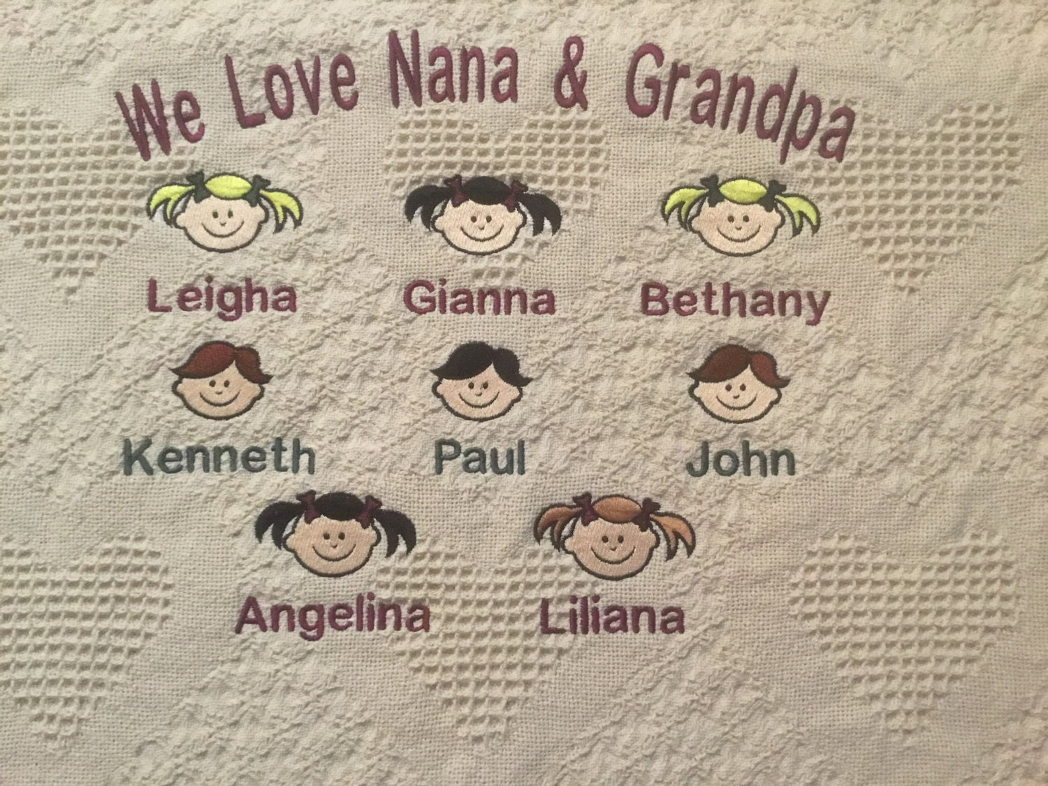 personalized grandma afghan personalized throw blanket personalized