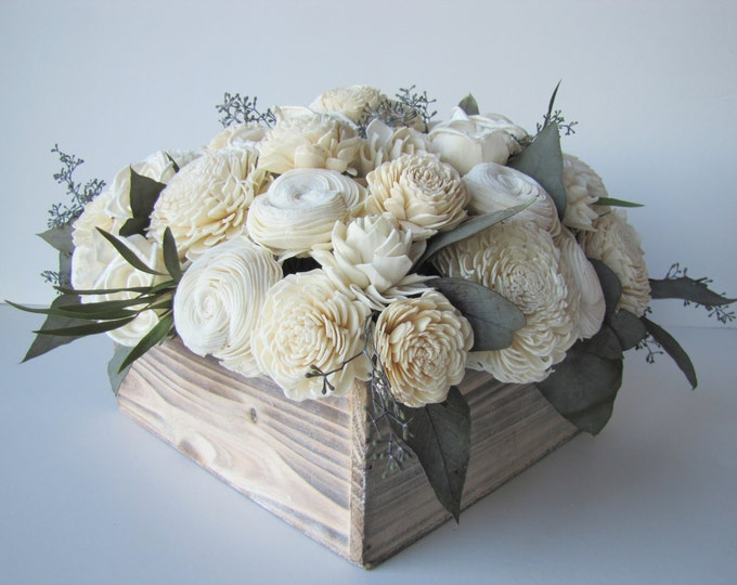 Large Floral Arrangment - Large Keepsake Centerpiece - Balsa Wood Arrangemet - Rustic Centerpiece - Modern Floral - Large Floral Gift