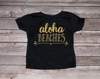 Aloha Beaches Pineapple Toddler Tee