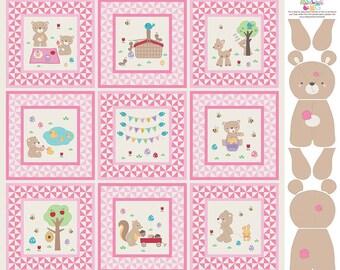 Teddy Bear's Picnic  Panel - P6051 Pink
