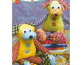 "Pattern ""Otis and Rhubarb Dog Softies"" by Jennifer Jangles (JJ9732) Paper Pattern"