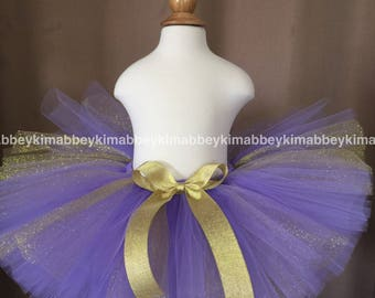 Lavender and gold tutu skirt