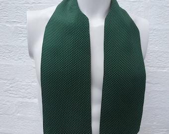 Mens cravat day necktie 1940s tie vintage gift for him green cravat Ascot tie goodwood present scooter 40s necktie polka dot cravat England.