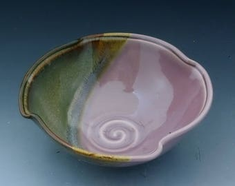 Handmade  Pottery Stoneware Bowl Lavender Brown by Mark Hudak