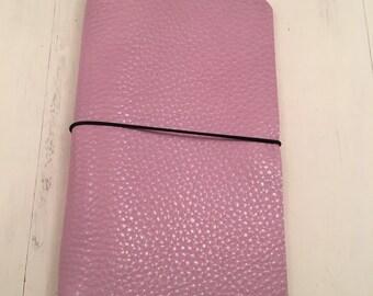 ClassicJot - Rosey Posey - Leather Traveler's Notebook/Fauxdori