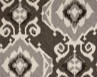 Delhi Graphite ikat home decor cotton fabric by the yard Magnolia Home Fashions