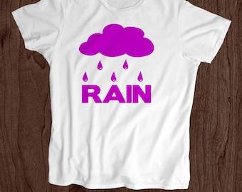 Rain - Kids T Shirt -Toddler Shirt - Screen Printed -100% Cotton-