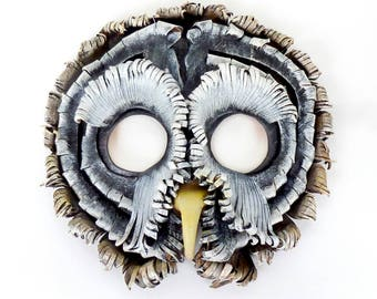 Great Grey Owl Leather Mask