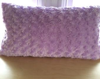Fur Swirl Lavender Lumbar Pillow Cover, 12''x22'' Fur Swirl Pillow Cover, Lavender Lumbar Pillow Cover