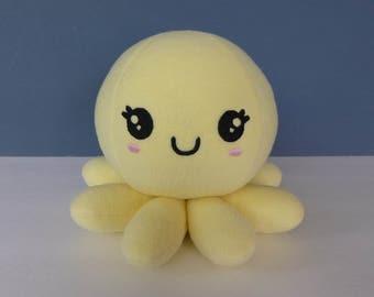 Kawaii Girl Octopus:  Butter Yellow