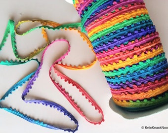 Multicoloured One Yard Lace Trims 10mm Wide - 200317L6