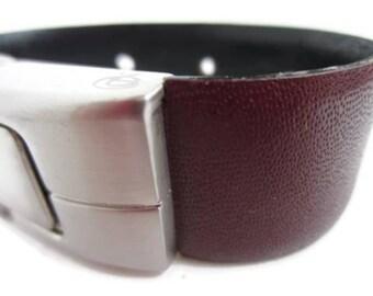 Flash Drive Wearable Technology, USB Memory Stick Jewelry, Jump Drive Bracelet, Reddish Brown & Punched Leather USB Bracelet: 16 GB  Medium