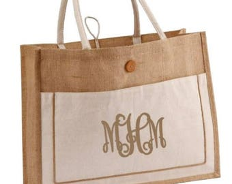 Cotton and Jute Tote Bag