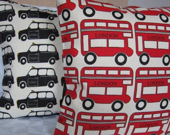 London Bus cushion cover