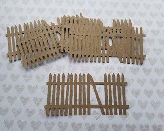 Die Cut Picket Fence.      #H-58