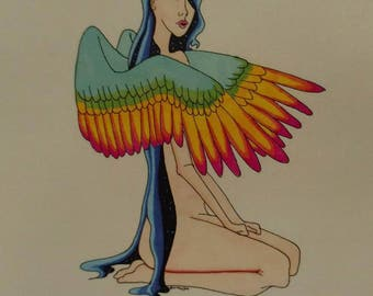 Blue Fairy - Art Print