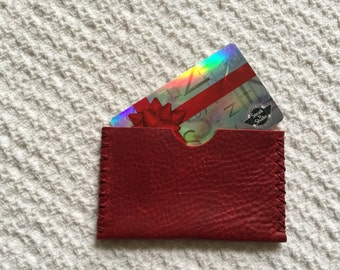 Leather card case leather business card case leather gift card case