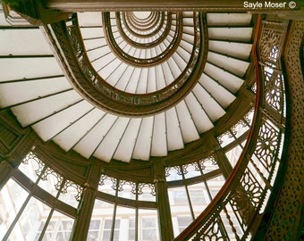 The Rookery Staircase 4 Fine Art Photograph, Wall Art, Home Decor, Chicago Image, Gift, Staircase Print, Building Photograph, Architecture
