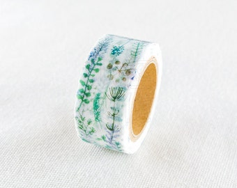 Leaf Study Chamil Garden Washi Tape - MTW-CH079 Engraving Exercise