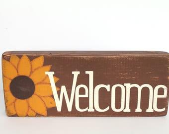 Country Kitchen Decor - Sunflower - Kitchen Decor - Welcome Sign