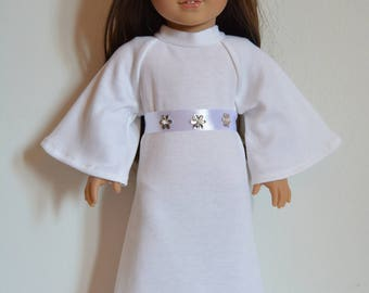 "Handmade Doll Clothes Star Wars Princess Leia Costume fits 18"" American Girl Dolls Halloween"